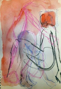 SKETCHES APR 15_1 21X29,5 cm Watercolor/oilstick