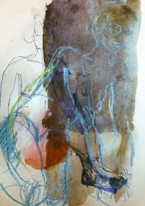 SKETCHES APR 15_4 21X29,5 cm Watercolor/oilstick