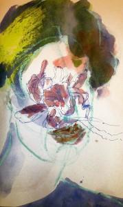 SKETCHES APR 15_2 21X29,5 cm Watercolor/oilstick