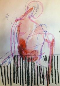 SKETCHES APR 15_3 21X29,5 cm Watercolor/oilstick