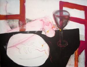 "Birgit Herzberg-Jochum, ""Nachtisch"" 2008 100X70 cm"