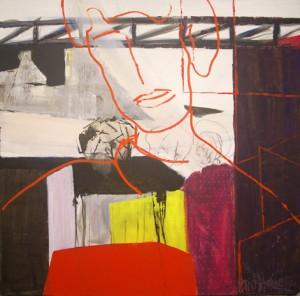 "Birgit Herzberg-Jochum, ""DEKUMO"" 2010 100X100cm"