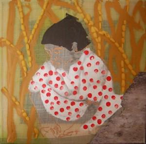 """Birgit Herzberg-Jochum, aus der Serie """"Indien by Taxi"""" 2011 30X30 cm"""