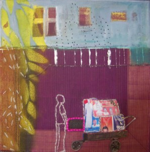"""Birgit Herzberg-Jochum, aus der Serie""""Indien by Taxi"""" 2011 30X30 cm"""